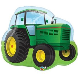Foil Balloon-Supershape-Green Farm Tractor