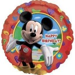 "Foil Balloon - Mickey Mouse Happy Birthday - 18"""