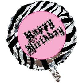 "Foil Balloon - Super Stylish Happy Birthday - 18"""
