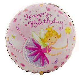 Foil Balloon - Garden Fairy Happy Birthday - 18""