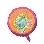 """Foil Balloon - Tea Time Happy Birthday - 18"""""""