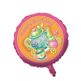 Foil Balloon - Tea Time Happy Birthday - 18""