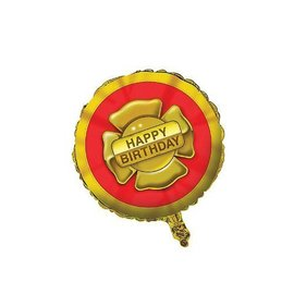 "Foil Balloon - Firefighter Happy Birthday - 18"""