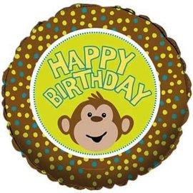 "Foil Balloon - Monkeyin Around Happy Birthday - 18"""