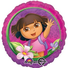 Foil Balloon - Dora the Explorer Happy Birthday - 18""