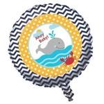 "Foil Balloon - Ahoy Matey Baby Shower - 18"""