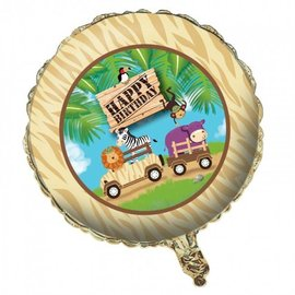 Foil Balloon - Safari Adventure Happy Birthday - 18""