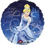 "Foil Balloon - Cinderella A Night to Sparkle - 18"""
