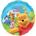 "Foil Balloon - Winnie the Pooh Happy Birthday - 18"""