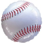 "Foil Balloon - Baseball - 18"""