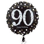 "Foil Balloon - 90th Birthday Sparkle - 18"""