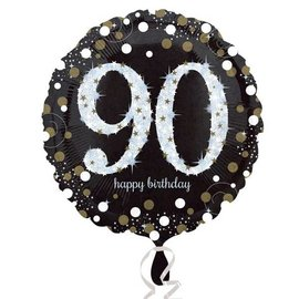 Foil Balloon - 90th Birthday Sparkle - 18""