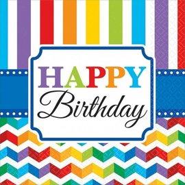 Napkins-LN-Bright Happy Birthday-16pkg-2ply - Discontinued
