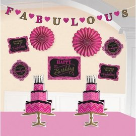 Decorating Kit-Born to be Fabulous Birthday-10pcs