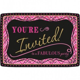 "Invitations-Born to be Fabulous-20pkg-4.5""x6.5"""