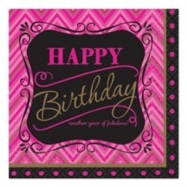Napkins-BEV-Born to be Fabulous Birthday-16pkg-2ply - Discontinued