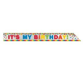"Sash-Foil-Rainbow It's My Birthday-1pkg-3""x60"""