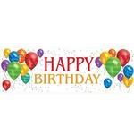 "Giant Banner-Plastic-Balloon Blast Birthday-1pkg-20""x60"""