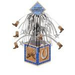 "Centerpiece-Foil Cascade-Blue Bandana Cowboy-1pkg-14.5"""