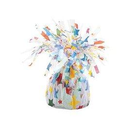 """Balloon Weight-Foil-Stars-1pkg-4.5""""x2.25"""""""