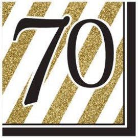 Napkins-LN-70 Black & Gold-16pk-3ply -Discontinued