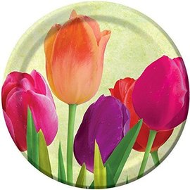 Plates-BEV-Spring in Bloom-8pk-Paper (Discontinued/Final Sale)