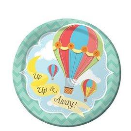 Plates-BEV-Up, Up & Away-8pk-Paper- Final Sale