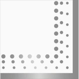 Napkins-Sparkle Shine Silver-16pk-2ply - Discontinued