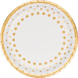 Plates-LN-Sparkle Shine Gold-8pk-Paper - Discontinued