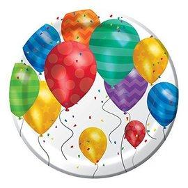 Beverage Plates-Balloon Blast-8pk-Paper - Discontinued