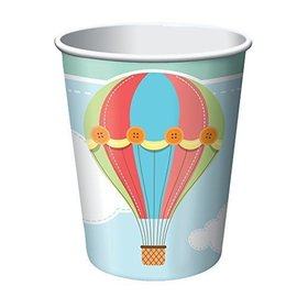 Cups-Up, Up & Away-Paper-9oz-8pk- Final Sale