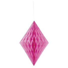 Hanging Decoration- Hot Pink Honeycomb