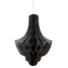 Paper Hanging Decor-Honeycomb Chandler-Black-14''