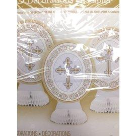 Centerpiece-Radiant Cross-Gold-8''-3pk (Seasonal)