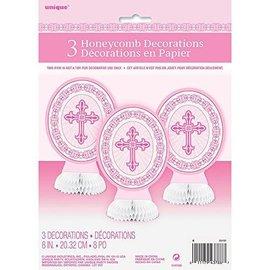 Centerpiece-Radiant Cross-Pink-8''-3pk (Seasonal)