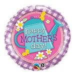 "Foil Balloon - Happy Mother's Day Flower Garden - 18"""
