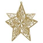Centerpiece-Gold Glittered Star-12''