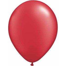 "Latex Balloon-Pearl Ruby Red-1pkg-11"""