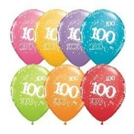Latex Balloon-100 A Round Assortment-1pkg-11""