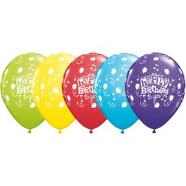 "Latex Balloon-Happy Birthday to You Assortment-1pkg-11"""