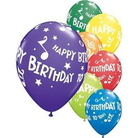"""Latex Balloon-Happy Birthday to You Music Notes Assortment-1pkg-11"""""""