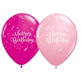 Latex Balloon-Birthday Shining Star Assortment-1pkg-11""