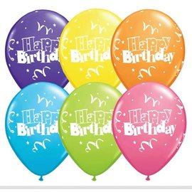 Latex Balloon-Birthday Streamers & Stars Assortment-1pkg-11""