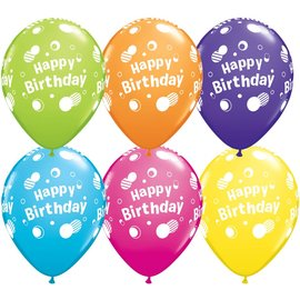 Latex Balloon-Happy Birthday Polka Dots Assortment-1pkg-11""