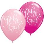 "Latex Balloon-Baby Girl Stars Assortment-1pkg-11"""