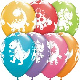 Latex Balloon-Cute & Cuddly Dinosaurs Assortment-1pkg-11""