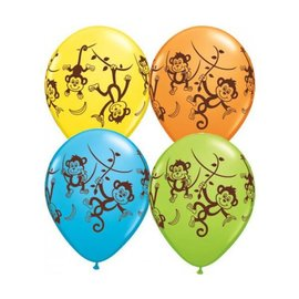 Latex Balloon-Mischievous Monkeys Assortment-1pkg-11""