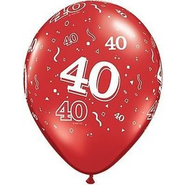 """Latex Balloon-40 A Round Ruby Red-1pkg-11"""""""