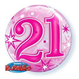 """Latex Balloon Bubble 21st- 22"""""""