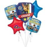 Foil Balloon-5pc Bouquet-Paw Patrol Birthday